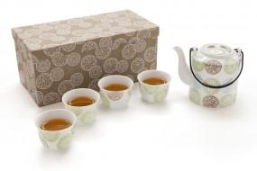 Porzellan Tee-Set in Geschenkbox